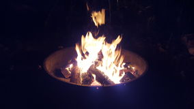 Campfire. Dancing flames in the night Stock Photos
