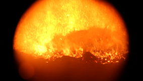 Campfire in dark stock video