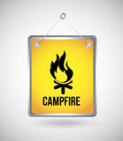 Campfire design Stock Photos