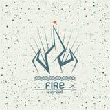 Campfire emblem Royalty Free Stock Photo