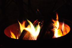 Campfire. An evening campfire at a private campground in the Adirondacks, upstate New York Stock Images
