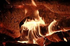 Campfire fire life enthusiasm heat. Power cooking wood Mars carbon stock photo