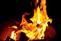 Campfire Flames Royalty Free Stock Photo