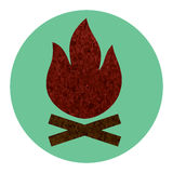 Campfire flat icon Royalty Free Stock Photo