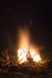 Campfire in the garden. At the new year's party Royalty Free Stock Images