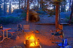 Campfire Glow royalty free stock images