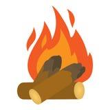 Campfire icon, cartoon style. Campfire icon. Cartoon illustration of campfire vector icon for web Royalty Free Stock Photo