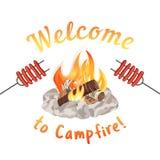 Campfire icon concept Stock Photo