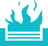 Campfire Icon Vector. Campfire icon in simple flat design vector Royalty Free Stock Images