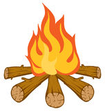Campfire. An Illustration of a Blazing orange and red campfire royalty free illustration
