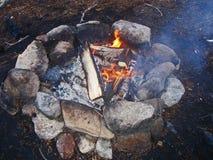 Campfire kindling Stock Image