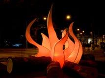 Campfire ,light festival Amsterdam,Holland Stock Photos