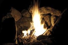 Campfire in the mountains Stock Photos