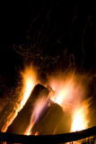 Campfire at Night Stock Photography