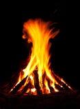 Campfire at night Royalty Free Stock Photos