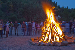Campfire at the night. Stock Images