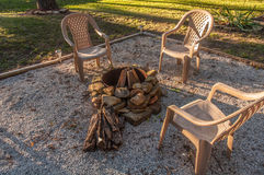 Campfire patio Royalty Free Stock Images