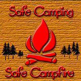 Campfire safety Royalty Free Stock Photos