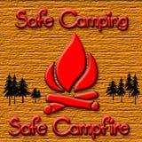 Campfire safety Royalty Free Stock Photos
