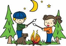 Campfire Scene Stock Photos
