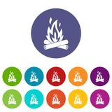 Campfire set icons Royalty Free Stock Photo