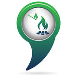 Campfire silhouette icon Stock Image