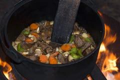 Campfire Stew Stock Photos