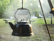 Campfire Teapot Royalty Free Stock Photography