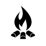 Campfire vector icon. Isolated on white background Stock Images