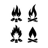Campfire vector icon Stock Photo