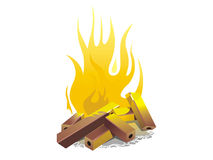 Campfire. vector illustration Royalty Free Stock Photos