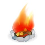 Campfire. Vector illustration Royalty Free Stock Images