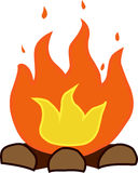 Campfire vector illustration isolated on white background Royalty Free Stock Photography