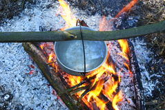 Campfire in wood. Relax.Kijiv.Ukraine Stock Photos
