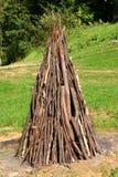 Campfire wood Stock Photo