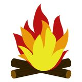 Campfire and Wood stock illustration