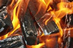 campfirecloseup Fotografering för Bildbyråer