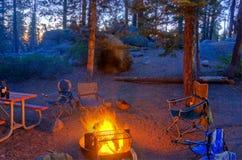 campfireglöd Royaltyfria Bilder