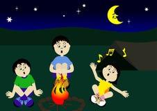 campfirekusiner royaltyfri illustrationer