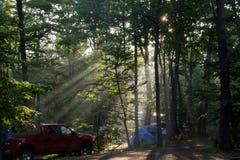 campground Fotografie Stock
