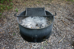 A campground fire ring Stock Photos