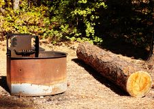 Campground Grill Stock Images