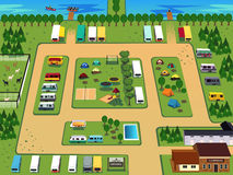 Campground map vector illustration