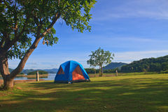 Campground in morning Royalty Free Stock Photo