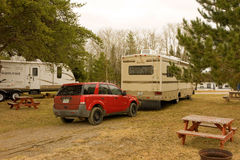 A campground in northern ontario Royalty Free Stock Photography