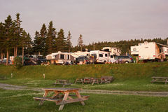 Campground in Perce in Quebec Stock Photography