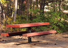 Campground Picnic Table Royalty Free Stock Images