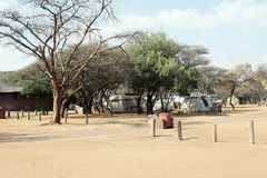 Campground in Pilanesberg National Park. Near Sun City, South Africa royalty free stock photo