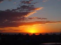 campground Por do sol imagens de stock