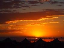 campground Por do sol fotografia de stock